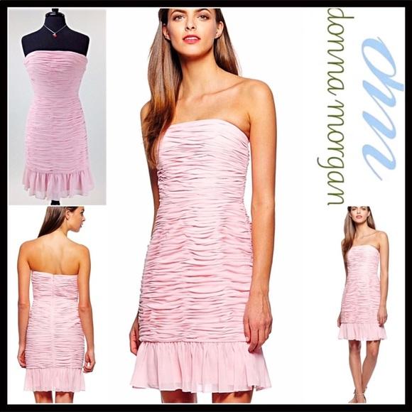 Donna Morgan Dresses & Skirts - DONNA MORGAN Pink Party Chiffon Short Dress